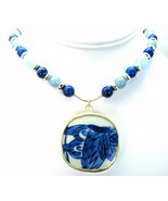 Denim Lapis with Blue and White Chinese Pottery... - $146.88