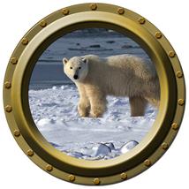 Polar Bear Design 2 - Porthole Wall Decal - $14.00
