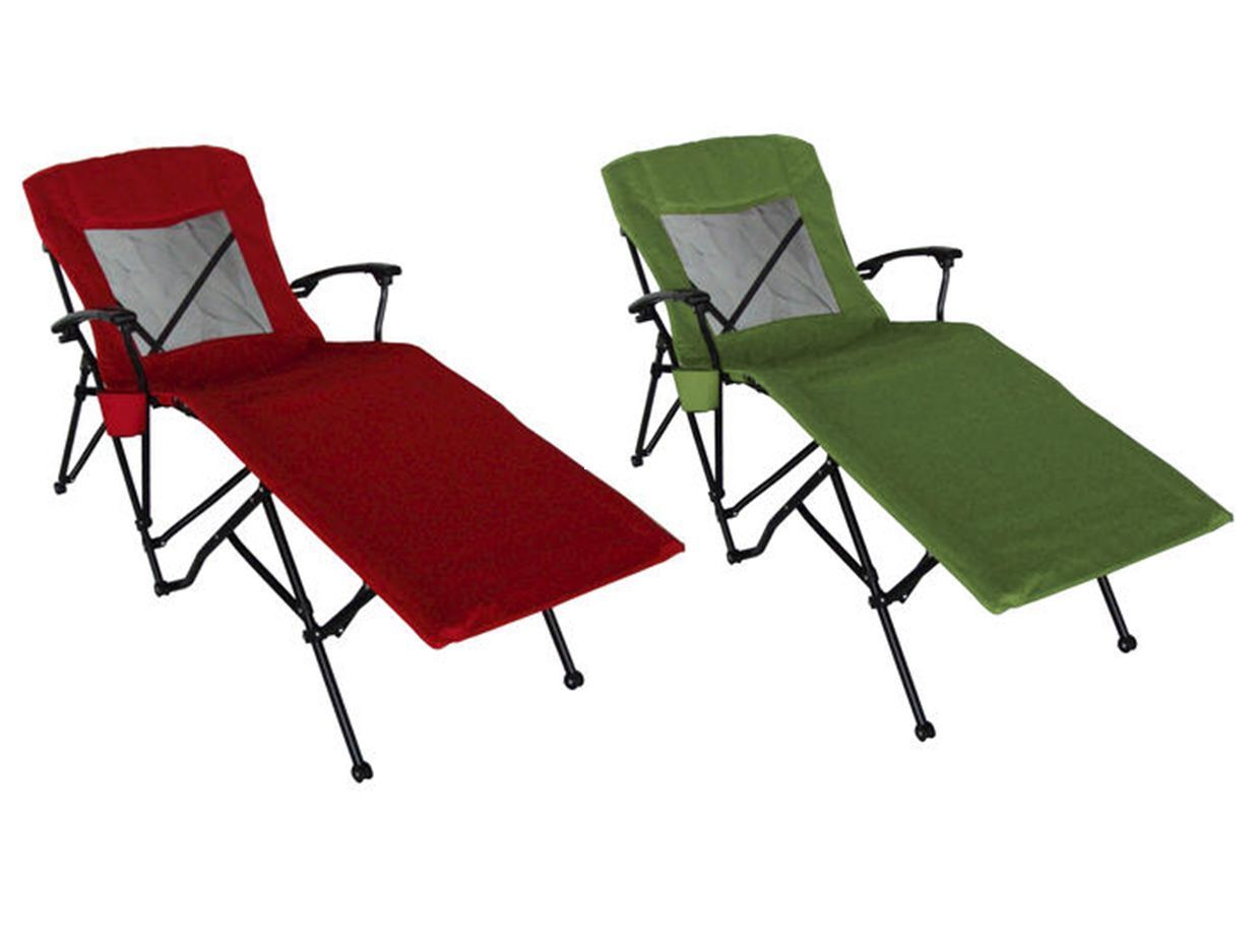 guidesman patio pool camp folding portable quad lounger