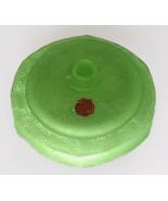 Depression Glass Guimet Green Satin Powder Jar - Original Powder and Puff - $95.00