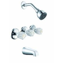 Glacier Bay 3-Handle Tub and Shower Faucet Set in Chrome 769032 - $114.84