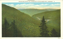 Smugglers Notch, Mt. Mansfield in the Green Mts. Vermont, 1920s unused Postcard  - $5.99