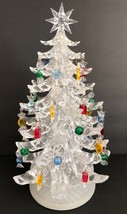 Dept 56 White Clear Musical Acrylic Candy 12 Inch Christmas Tree - $49.49