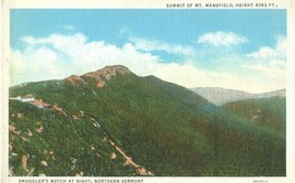 Smuggler's Notch at Right, Northern Vermont, 1920s unused Postcard  - $5.99