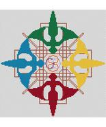 Elemental Angels cross stitch card chart Artist's Alley  - $7.20