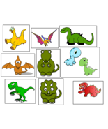 9 Dinosaur Stickers, Party Supplies, Decorations, Favors, Gifts, Labels - $8.99