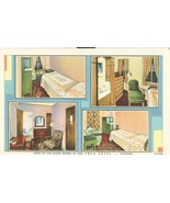 Some of the Guest Rooms at the YMCA Hotel, Chicago, Illinois, linen Post... - $5.99