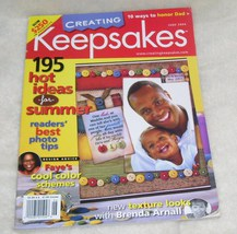 CREATING KEEPSAKES Magazine June, 2004 LIKE NEW! - $7.96