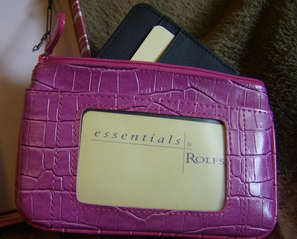 ROLFS Lavendar Leather Card holder  coin purse  key holder