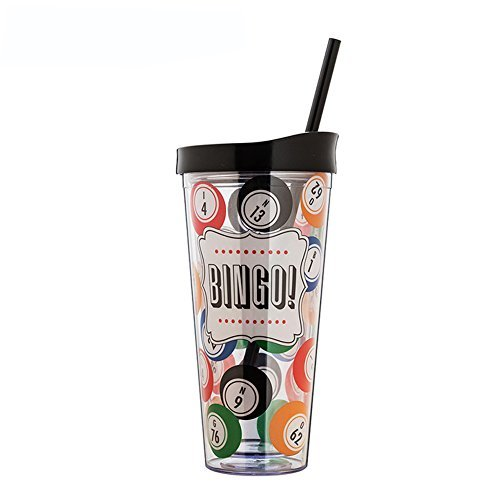 Cup with Lid Straw, Creative Double Wall Tumbler Cup, Travel Cup, Gift Cups, H - $32.83
