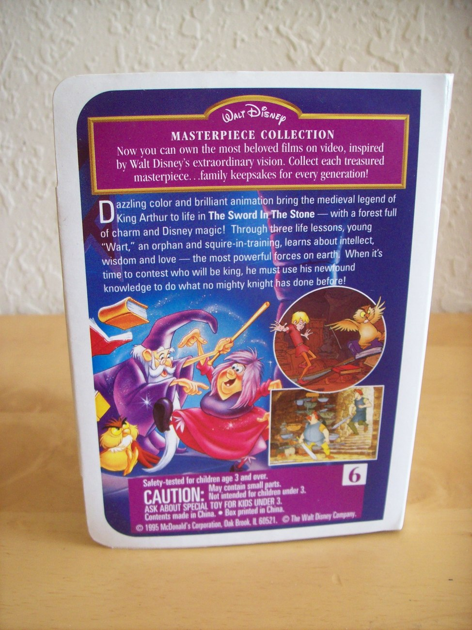 "1995 Disney McDonald's #6 ""The Sword in the Stone"" Happy Meal Figurine"