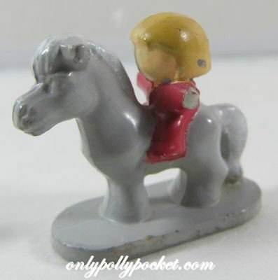 1991 Polly Pocket Dolls Dream World Pony / Horse with Rider
