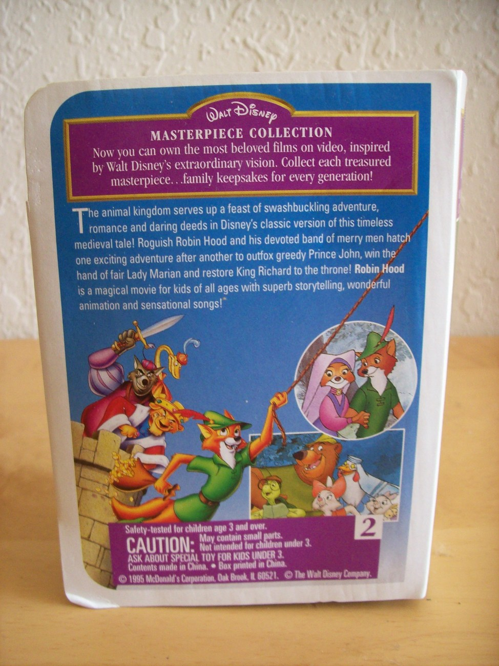 "1995 Disney McDonald's #2 ""Robin Hood"" Happy Meal Figurine"