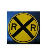 """12"""" REFLECTIVE ROUND R.R. CROSSING SIGN  - $11.00"""