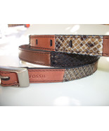 Fossil Brand Multi Color Belt Pieced Python Snake Embossed - M - Leather... - $23.90