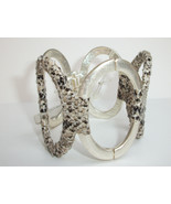 Kenneth Cole 'Urban Snake' Python Print  Wrapped Silvertone Hinged Cuff ... - $27.00