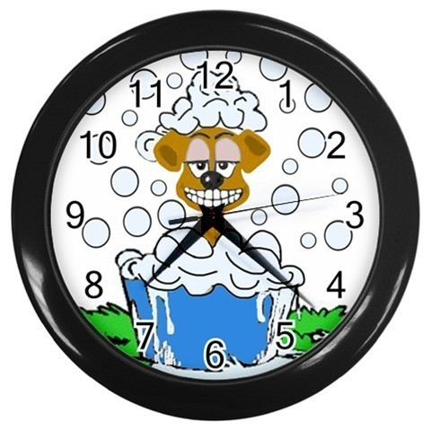 Dog Grooming Decorative Wall Clock (Black) Gift model 30280682