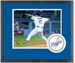 Zack Greinke 2014 Los Angeles Dodgers - 11 x 14 Team Logo Matted/Framed ... - $43.55
