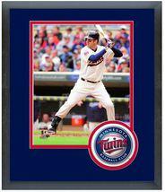 Joe Mauer 2014 Minnesota Twins - 11 x 14 Team Logo Matted/Framed Photo - $43.55