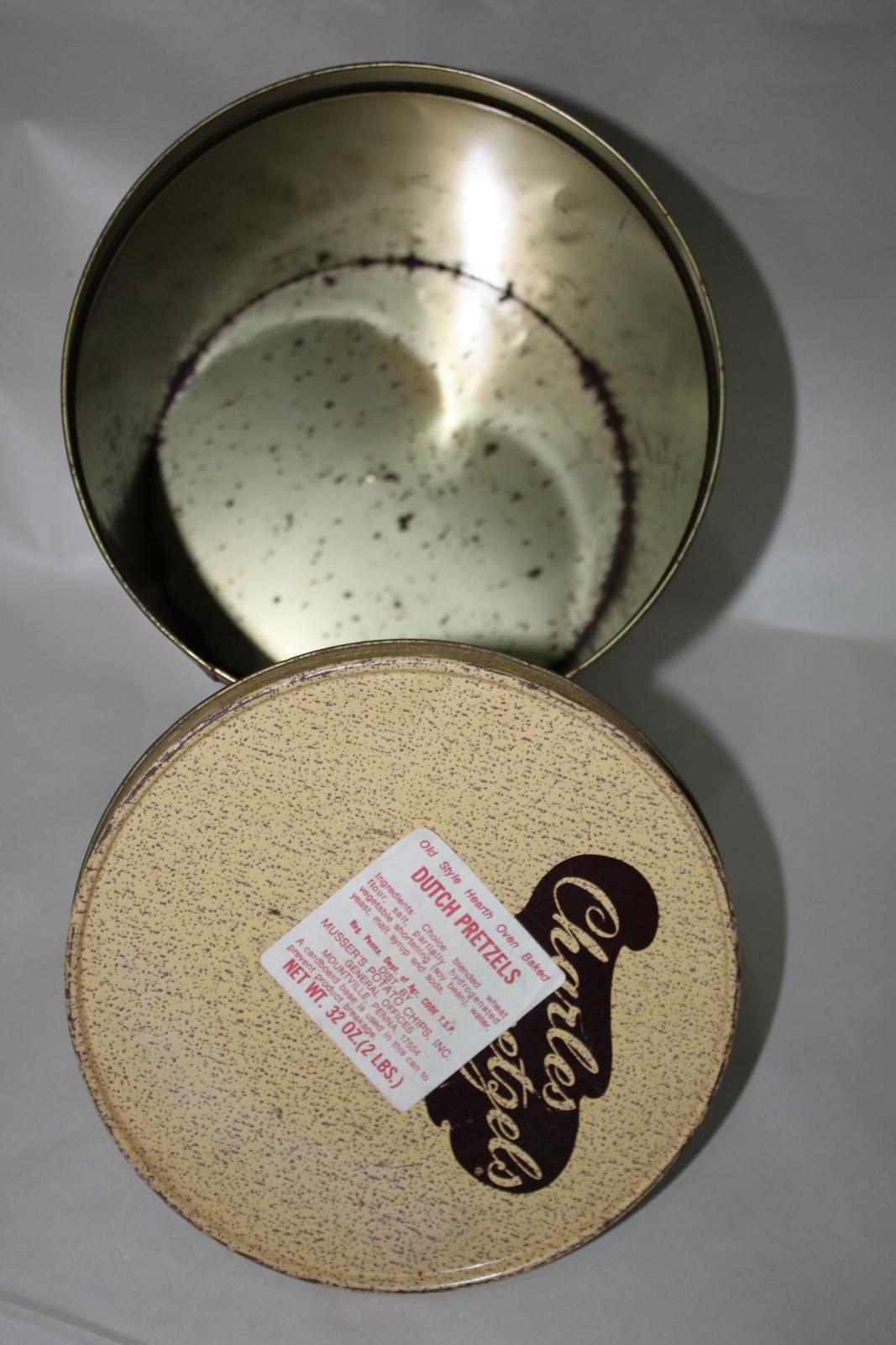 Charles Chips Pretzels Musser's Vintage Decor Tin image 2