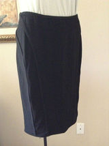SALE!!$1495 RARE DONNA KARaN black label collection stretch pull on CHIC skirt M - $123.84