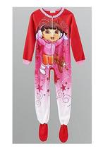 DORA the EXPLORER and BOOTS Footed Blanket Sleeper Pjs Pajamas 4/5 NeW - $21.99