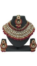 Red Indian Traditional Wedding Gold Plated Bridal Jewelry Choker Necklac... - $39.59