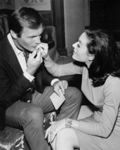 Adam West and Lee Meriwether in Batman in plain clothes on set together 16x20 Ca - $69.99