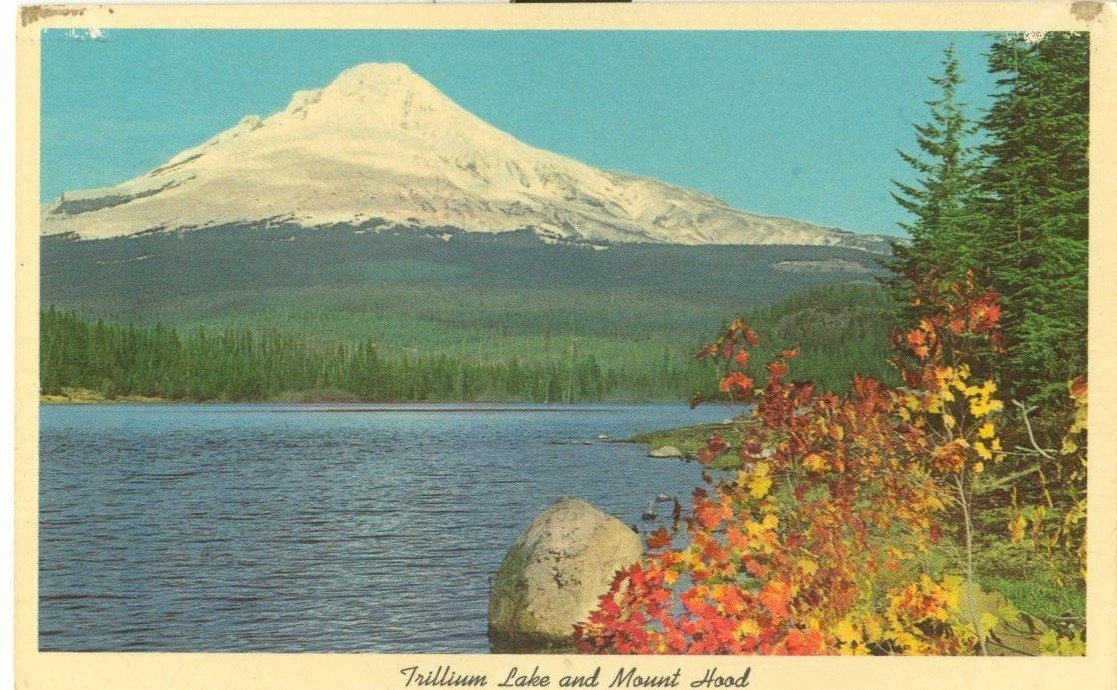 Trillium Lake and Mount Hood, Oregon, unused Postcard