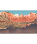 West Temple and Altar of Sacrifice, Zion National Park, Utah, unused Pos... - $4.99