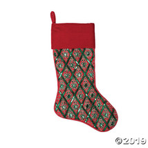 "Vickerman Red Green and Red Sequin 20"" Stocking - $52.75"