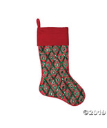 """Vickerman Red Green and Red Sequin 20"""" Stocking - $52.75"""