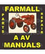 McCormick IH FARMALL A & AV SERVICE MANUAL & PARTS Catalog -2 Tractor MA... - $15.24