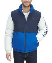 Tommy Hilfiger  Men's Nylon Taslan Retro Puffer Jacket Navy-White-Royal ... - $112.50