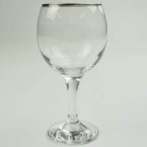 Gibson Everyday Essential Home Platinum Band Goblet Clear Glass Stemware... - $6.99