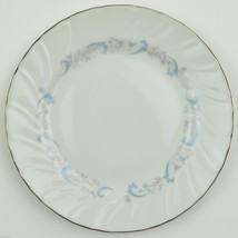 Camelot China Gracious Pattern Bread Plate Japan 1990 Blue Scrolling Flo... - $2.69