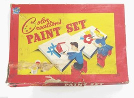 1930s Color Creations Art Painting Set Vintage Toy Creation 1940s Waterc... - $21.68