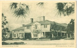 Williamsburg Lodge, Virginia, early 1900s unused Postcard  - $3.99