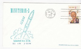 MINUTEMAN-3 LAUNCHED FROM E.T.R. CAPE CANAVERAL FL DECEMBER 4 1969 - $1.78