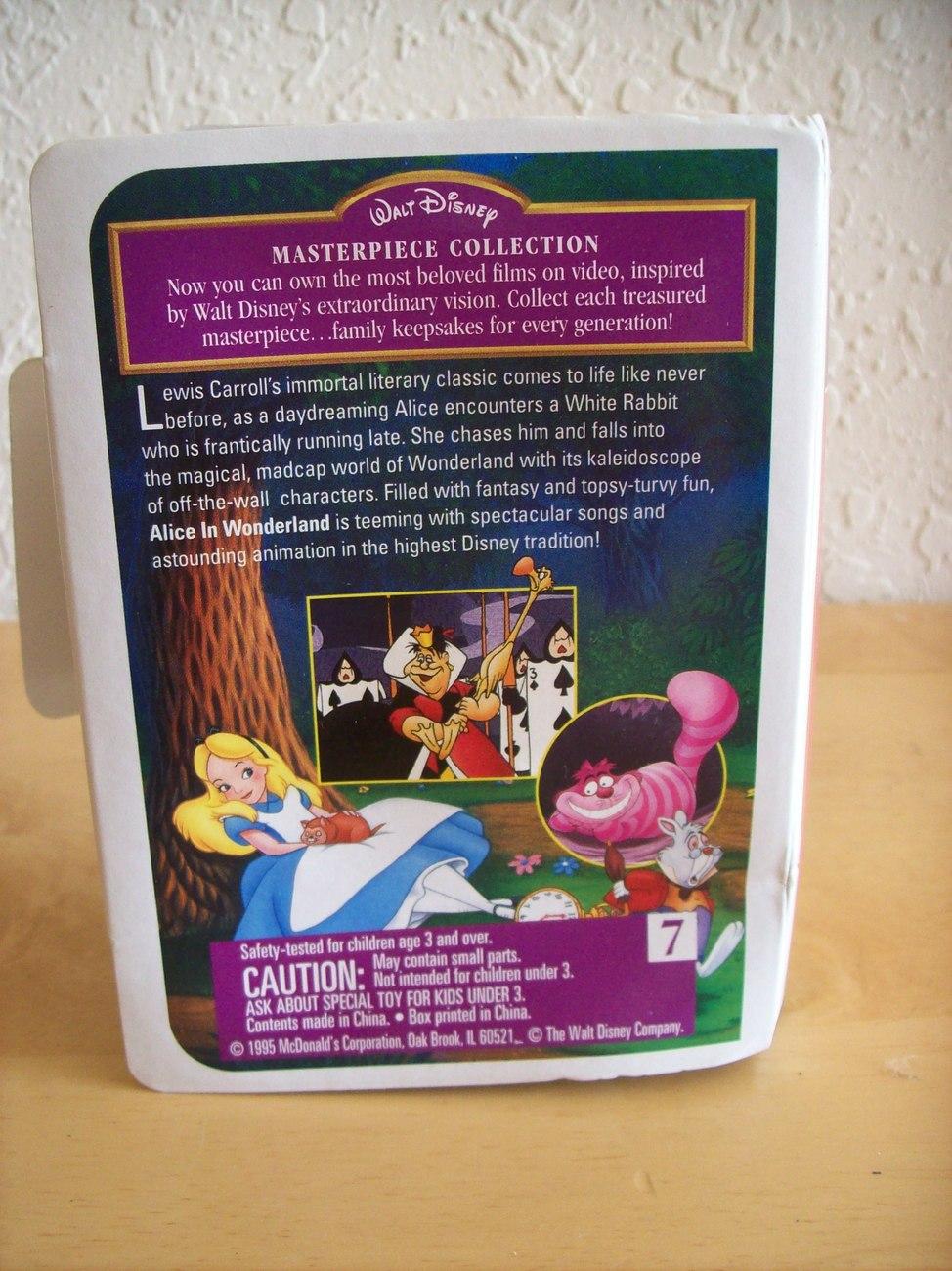 """1995 Disney McDonald's #7 """"Alice in Wonderland"""" Happy Meal Figurine"""