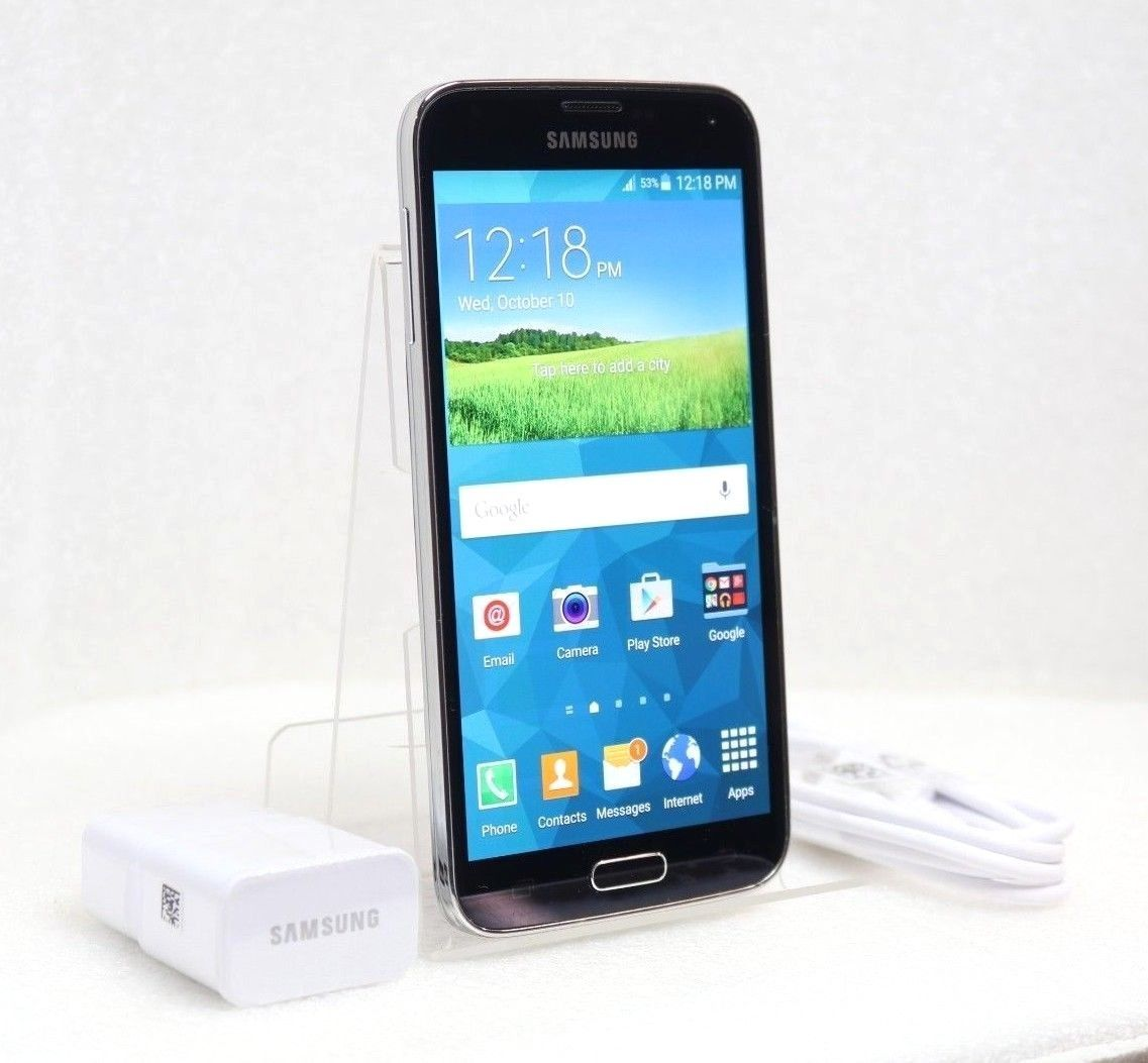 Samsung Galaxy S5 - 16GB 4G LTE (GSM UNLOCKED) Smartphone SM-G900W8 | Black