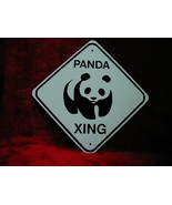 MINI MINIATURE CUTEZ PANDA TRAFFIC SIGNS METAL  - $5.00