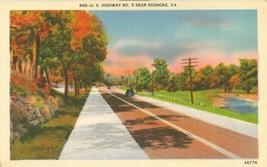 US Highway no. 11 near Roanoke, VA, 1945 used Postcard  - $5.99