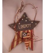 Patriotic USA Star Wall Art Plaque Primitive Aged Colonial Look Handmade - $35.63