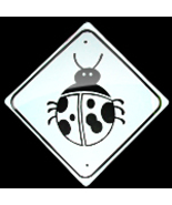 "MINI MINIATURE CUTEZ LADY BUG SIGN METAL  8"" - $5.00"