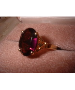 Ladies Amethyst Russian CZ Ring 5 Carats - $37.50