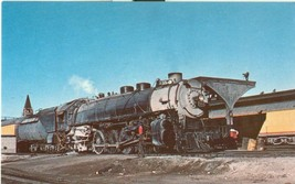 Union Pacific 7857, Mountain type locomotive at Cheyenne, Wyoming, 1955 postcard - $9.99