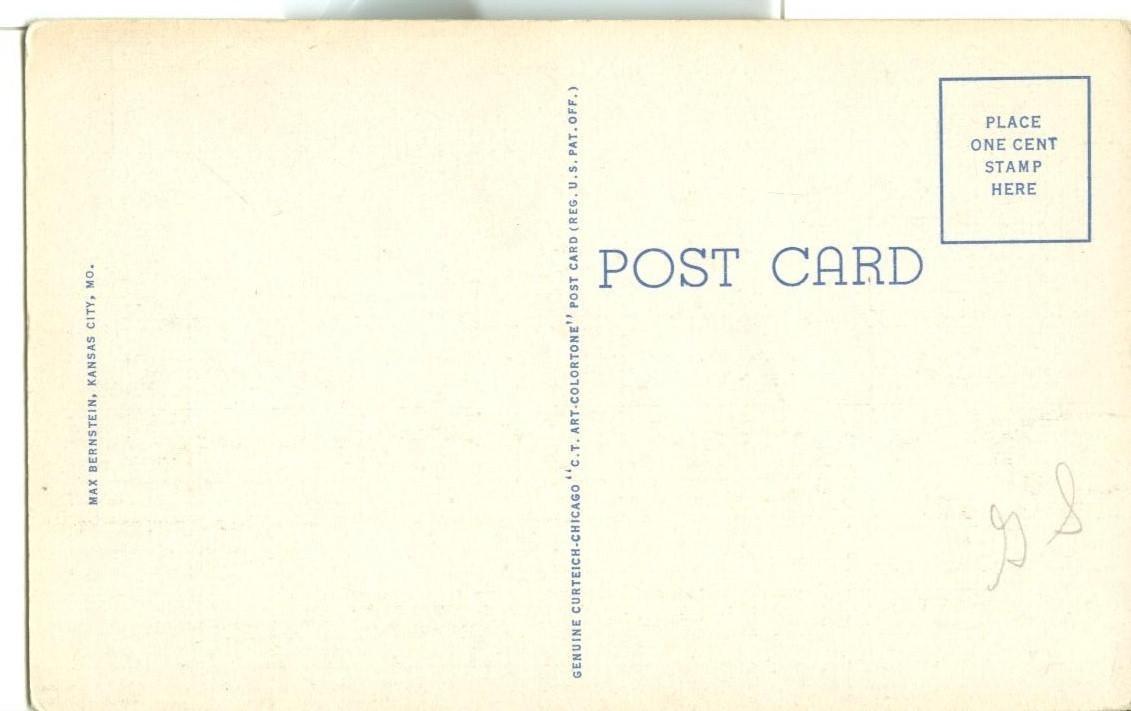 Union Station, Kansas City, MO, unused linen Postcard