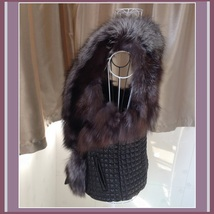 Long Hair Silver Faux Fur Fur Sleeveless Black Vest Jacket with Faux Leather image 3