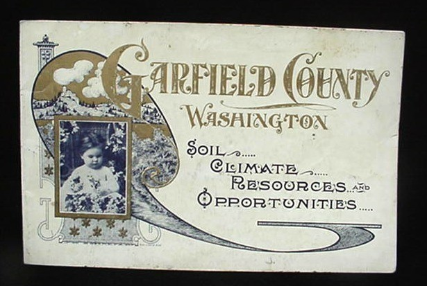 1909 Garfield County Wa Pomeroy Promotional Photo Book